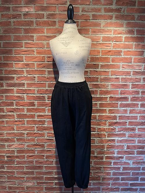 Pantalon noir avec taille et chevilles élastique