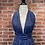 Thumbnail: Onepiece short bleu à pois blanc