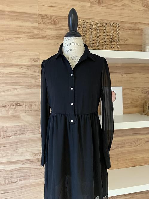 Robe style chemise noire