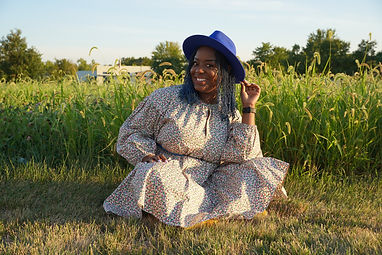 Black girl in field