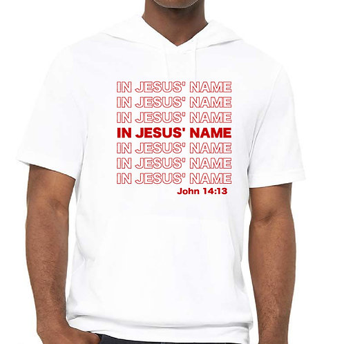 In Jesus' Name Hoodie (Short Sleeve)