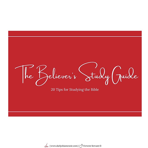 The Believer's Study Guide