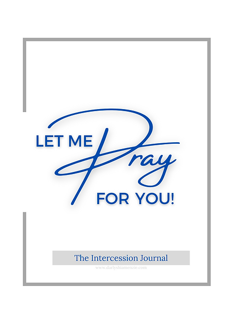 Let Me Pray For You Intercession Journal