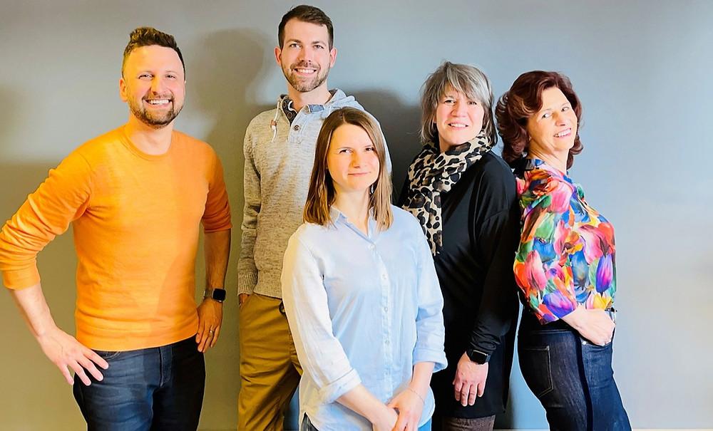 Das Coaching-Team von links: Meik Brauer, Marco Stief, Sheila Fitschen, Silke Steinberg, Petra Dominiczak