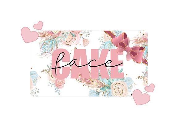 Cartão de Oferta Cake Face