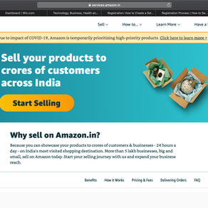 Become an Amazon Seller : How to register as a seller on Amazon.