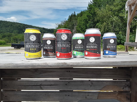 Ricker Hill Hard Cider can lineup