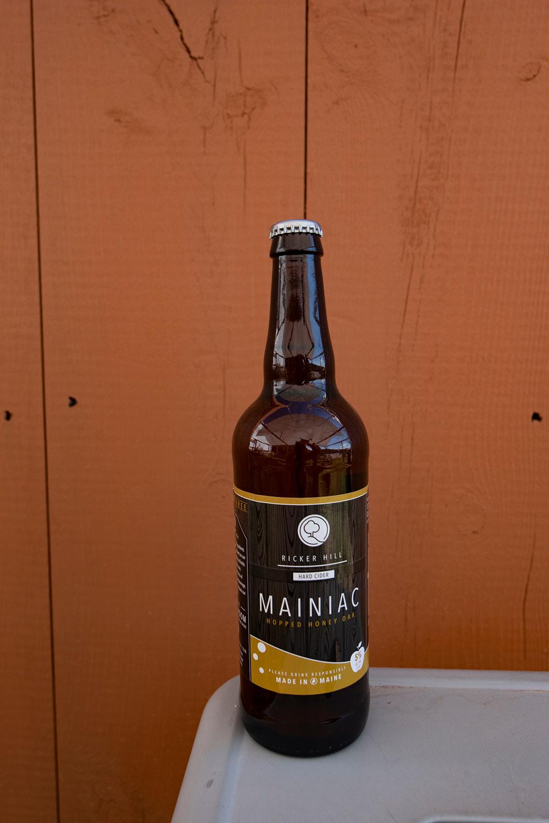 Ricker Hill Mainiac Hopped Honey Oak hard cider