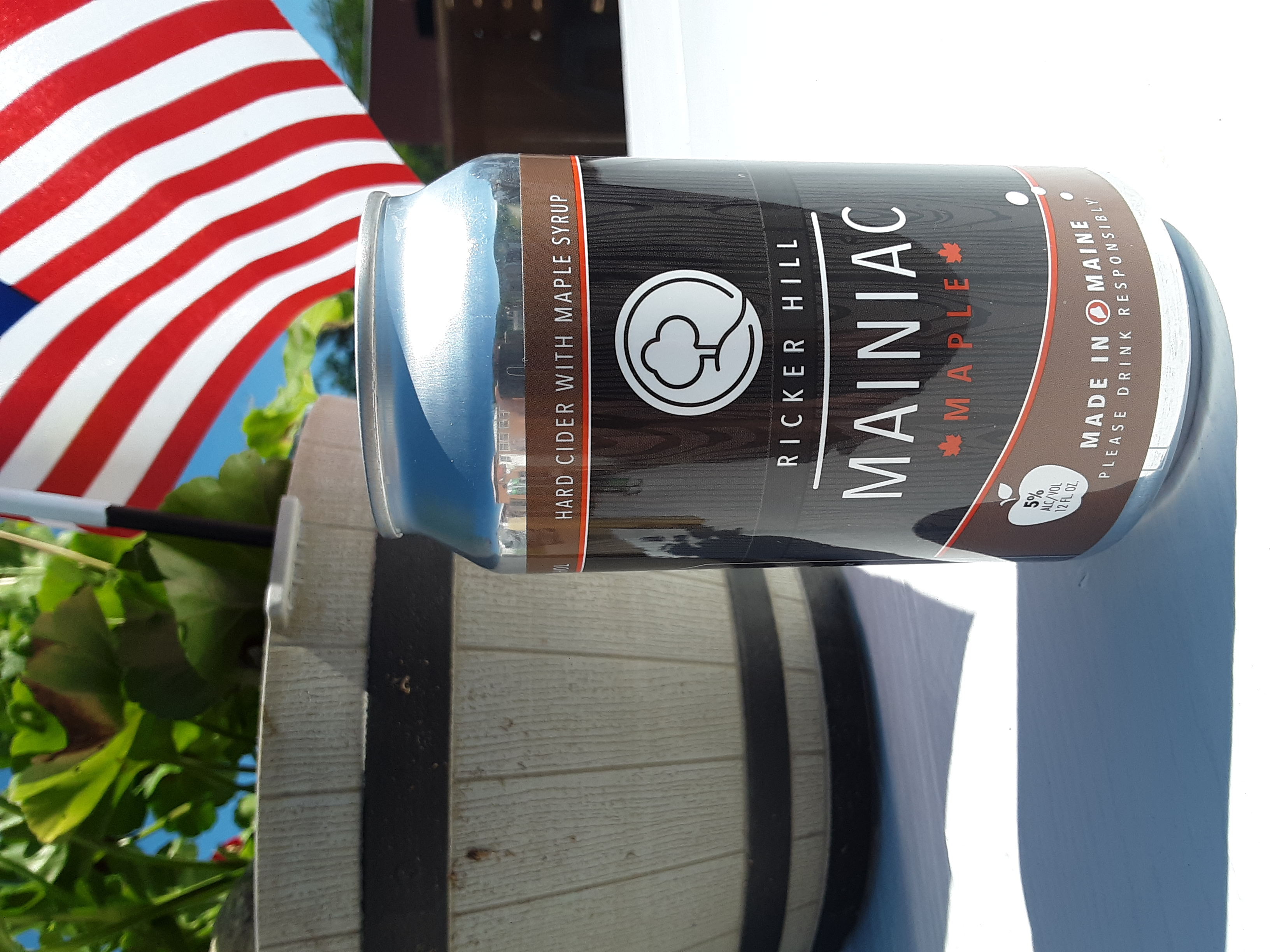 Ricker Hill Mainiac Maple hard cider