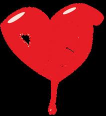 Detroit Dripping Heart