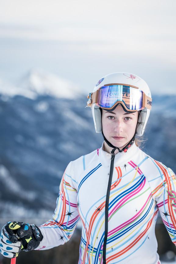 Skiing Senior Photos