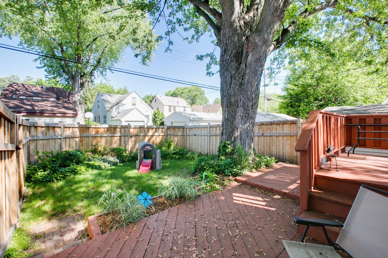 Back yard, facing east