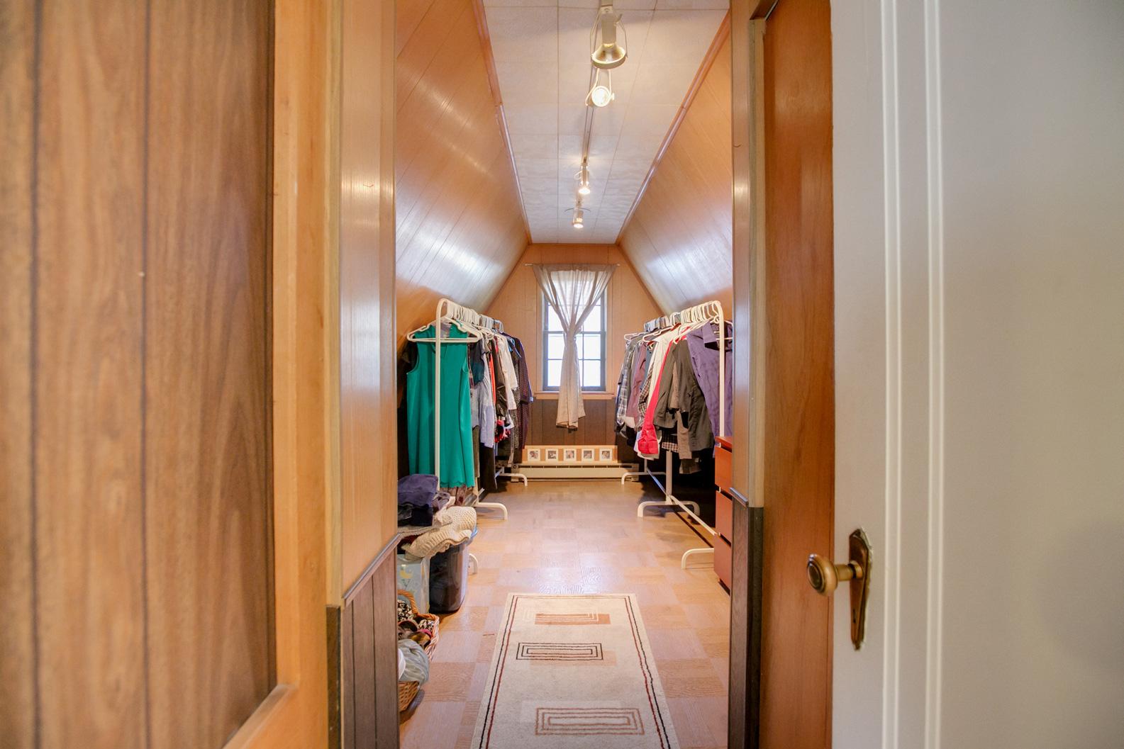 Huge closet in master