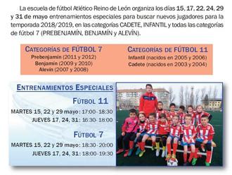 Selección de nuevos jugadores 2018-2019
