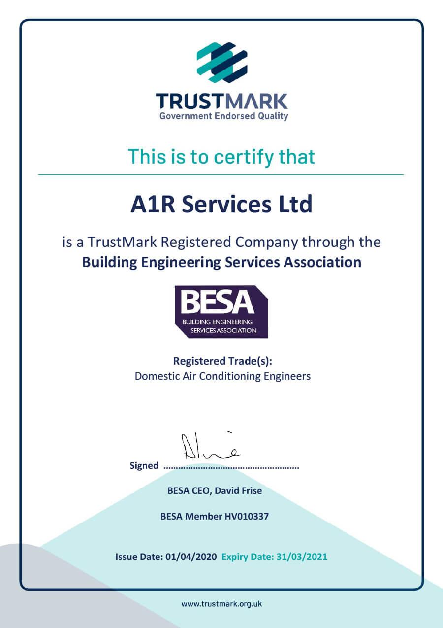 Trustmark Certification Certificate