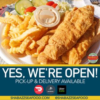 Shabazz Seafood Social Media Flyer