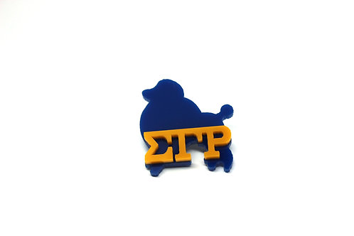 SGRho Poodle Pin