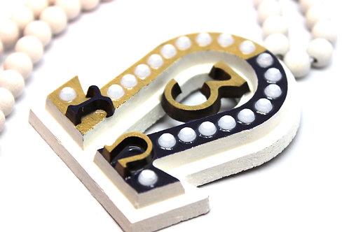 Omega 'Large Number' Necklace (Custom White)