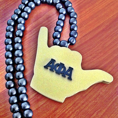 Alpha 'Hand Sign' Necklace