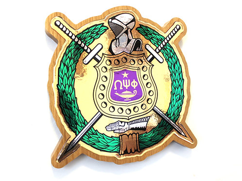 Omega Psi Phi Shield Plaque