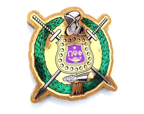 Omega Psi Phi Shield Plaque Socos Beads The Hottest Spot For Your