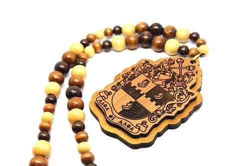Alpha 'Wood Shield' Necklace