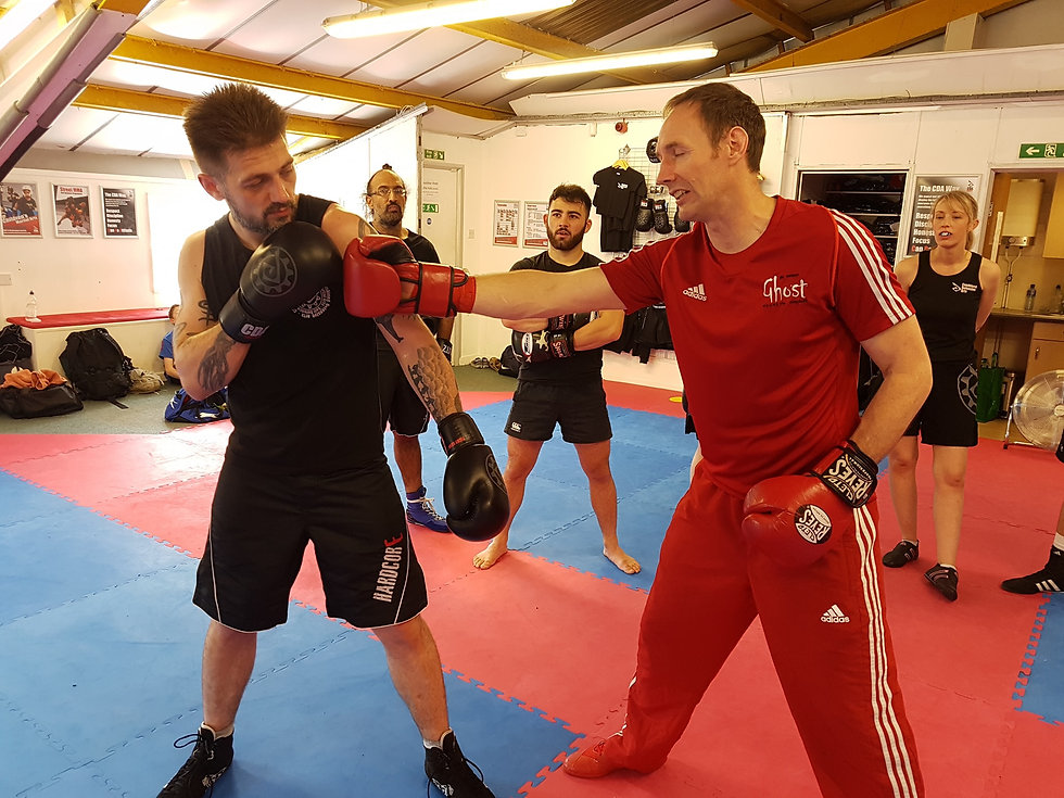Phil Norman demonstrating some Ghost Elusive combat striking