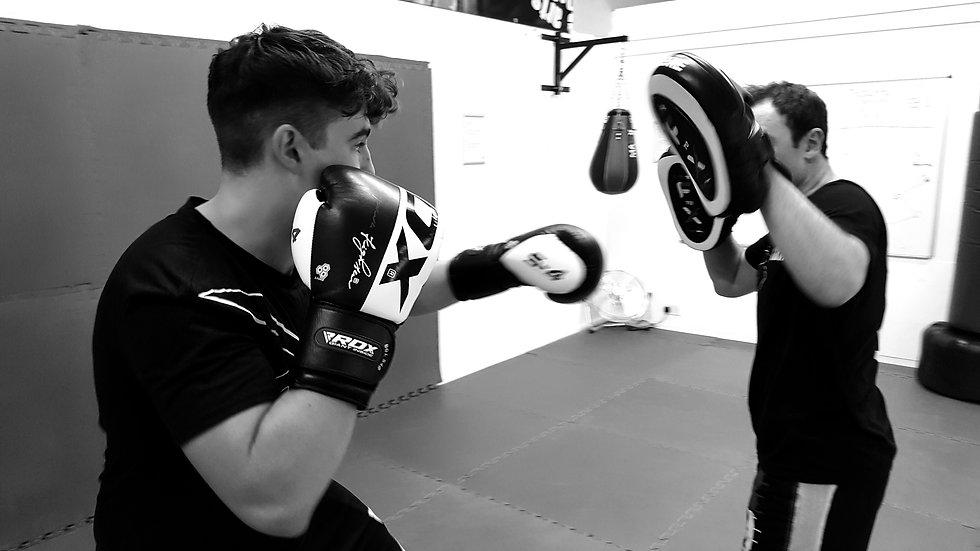 kickboxing pad session
