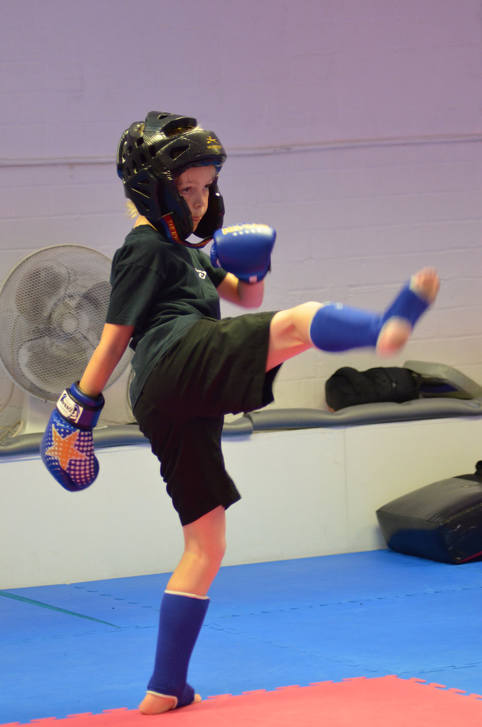 One of our Juniors demonstrating a kick