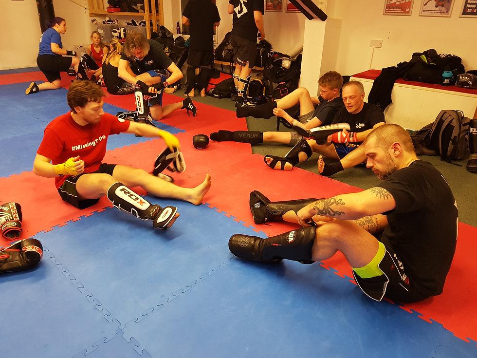 kickboxers getting ready fo battle