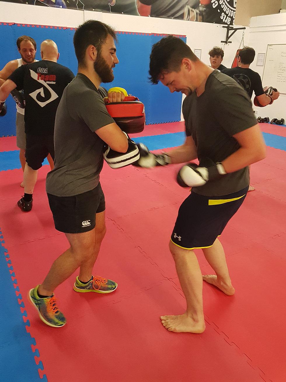 Final punching burnout in a kickboxing class