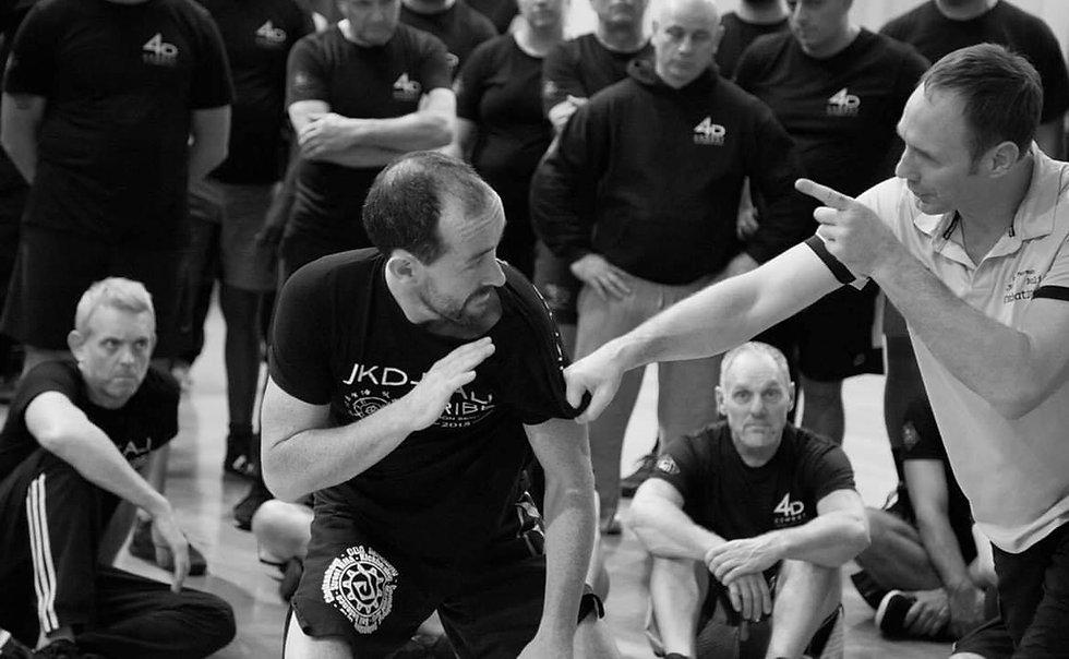 Head instructor Lee Trunks at a Bob Breen 4D Combat seminar with Phil Norman