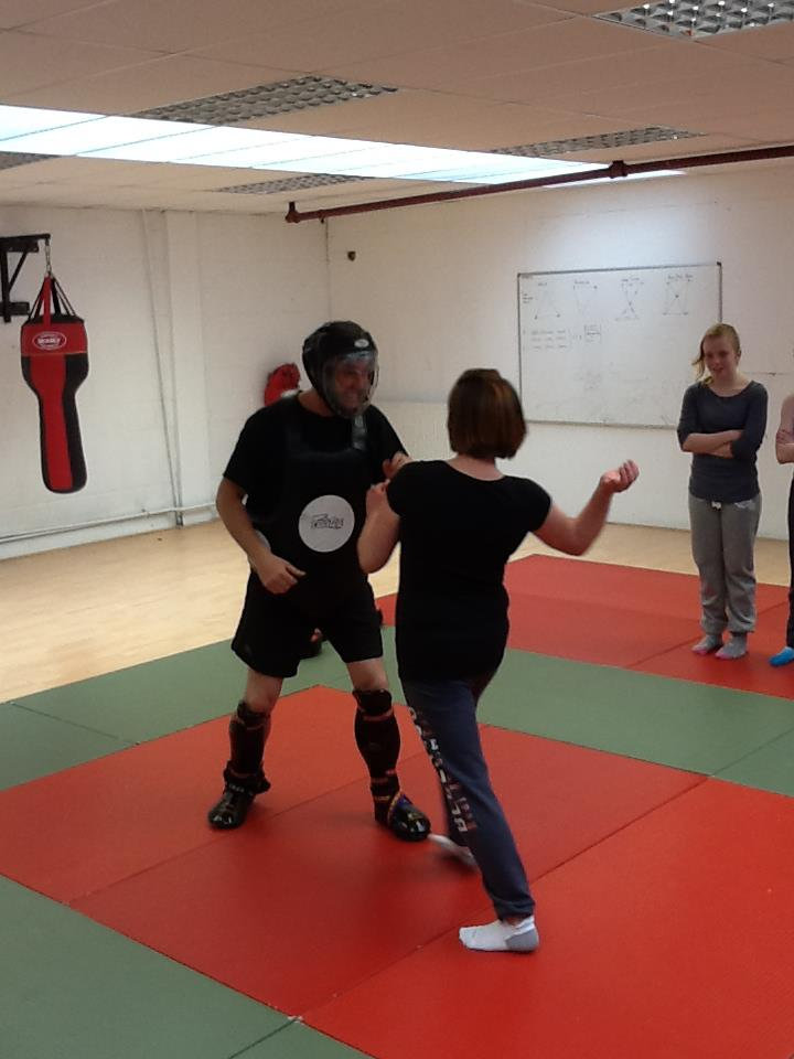 PROTECTED INSTRUCTOR GETTING SLAPPED BY A SELF DEFENCE STUDENT