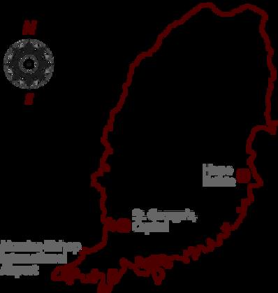 map of grenada wih location of hope estate
