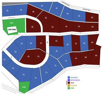 plan of hope city available lots phase D