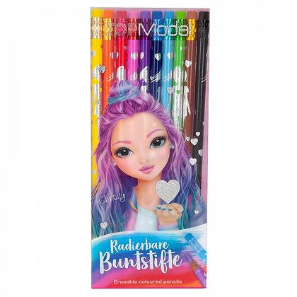 Crayons de couleur gommables