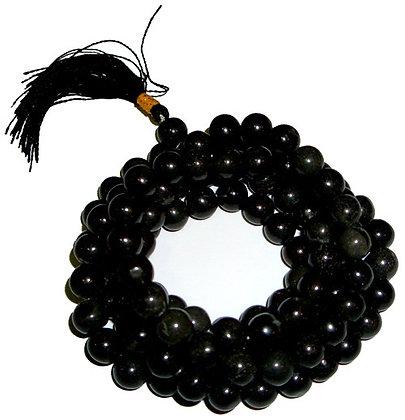 Mala tibétain agate noire