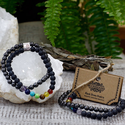 Bracelet chakra et hematite