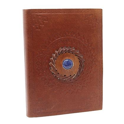 Carnet cuir lapis  15.24x10.16 cm