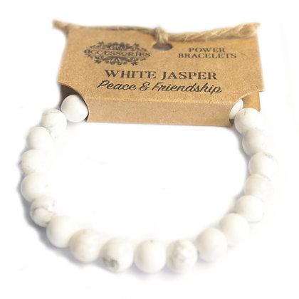 Bracelet jaspe blanche