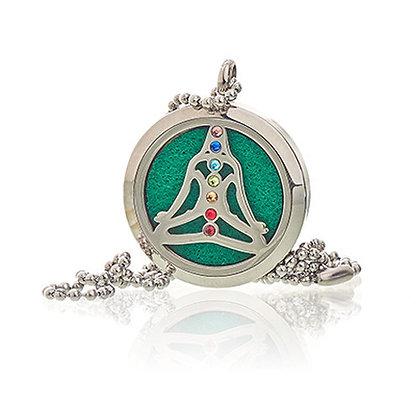 Collier diffuseur de parfum yoga chakra