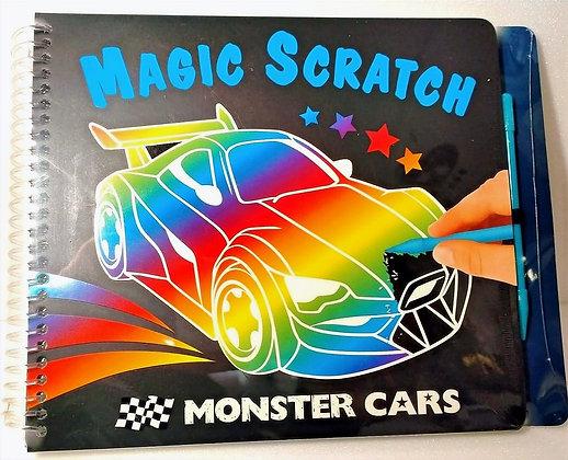 Magic Scratch Monster Cars