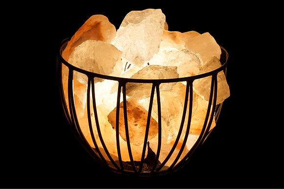 Braséro avec du cristal de sel de l'himalaya