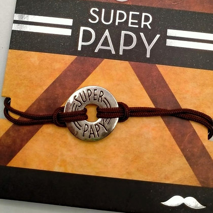 Bracelet homme super papy