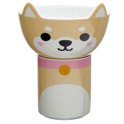 Ensemble Mug & Bol en Porcelaine pour Enfants  - Chien