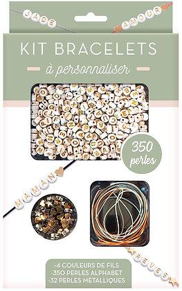 Kit Bracelets Messages Dorés