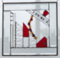 Abstract Stained Glass by Debra Doucette