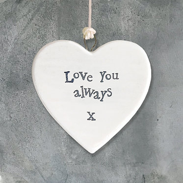 Love You Always Mini Hanging Heart