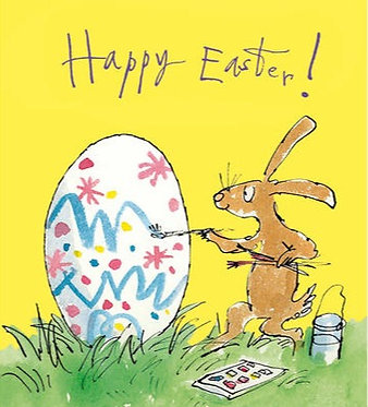 Egg Painting Quentin Blake Card