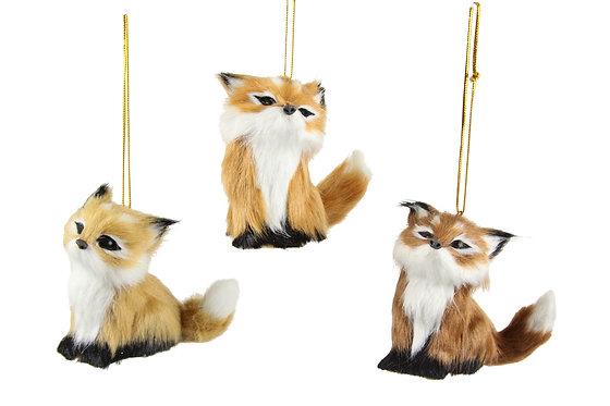 Faux Fur Fox Decoration